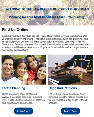 Estate Planning Newsletter - Subscribe Today!